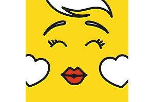 Smile icon template design. In love