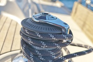 Yacht Winch on the Deck