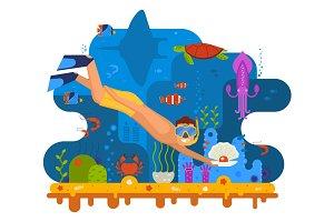 Pearl Diver Under the Sea