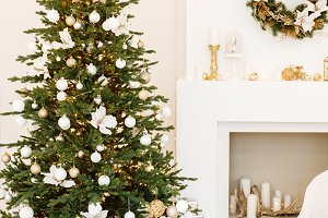 decor with Christmas tree