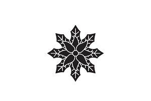 Baneberry black vector concept icon
