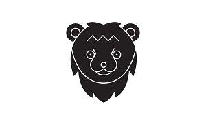 Bear head black vector concept icon