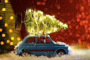 Santa delivering Christmas or New Ye