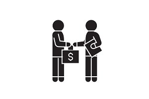 Bribery and corruption, man giving