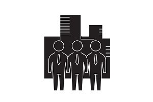 Business company black vector