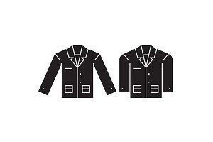 Business jacket black vector concept