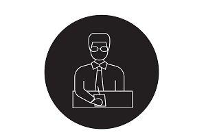 Businessman manager black vector