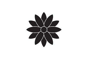 Calendula black vector concept icon