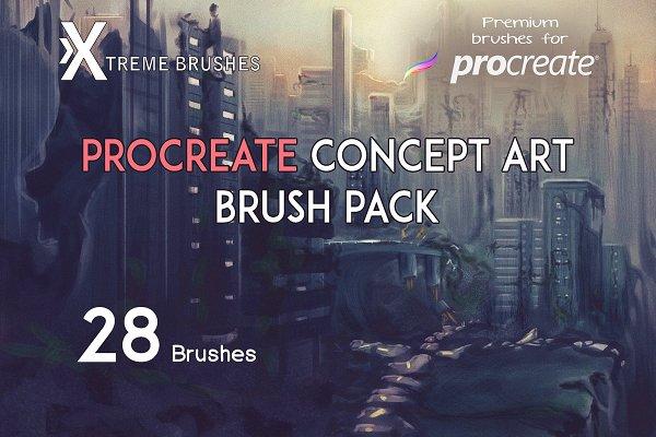 Procreate Concept Art Brushset