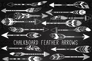 Chalkboard Feather Arrows
