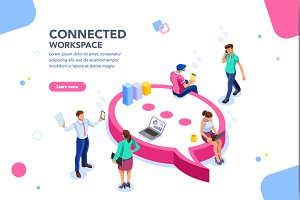 Wifi Concept Isometric Vector