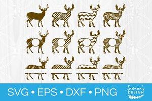 Deer SVG Cutting Files Monograms SVG