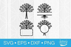 Family Tree SVG Cut File Monogram