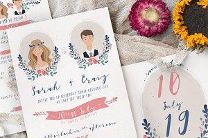 Sweet Illustration Wedding Suite