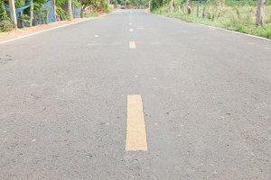 Yellow line road traffic center