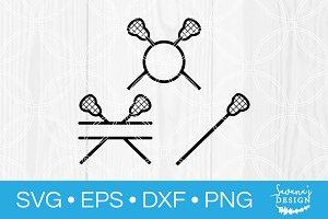 Lacrosse SVG Bundle Split Monogram
