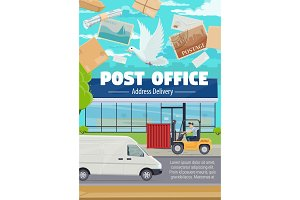 Post office and mail delivery