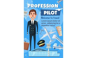 Aviation pilot profession, staff