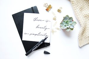 Beauty In Simplicity Quote Flatlay
