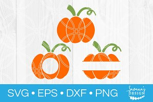 Pumpkin SVG Bundle Monogram SVG