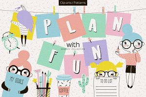 Plan with Fun, Planner Graphics set