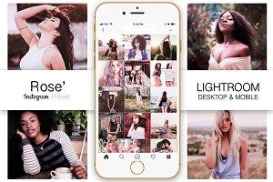 Rose Gold Instagram Blogger Preset