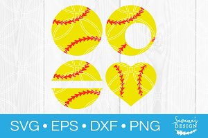 Softball SVG Bundle Cut File