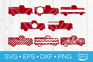 Vintage Truck SVG Monogram Cut Files