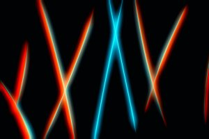 Futuristic neon curved lines abstrac