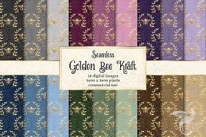 Golden Bee Kraft Digital Paper