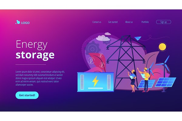 Energy storage concept landing page…