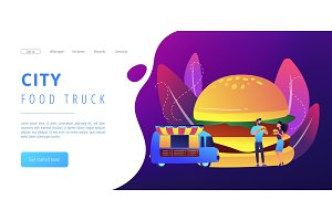 Street food concept landing page.