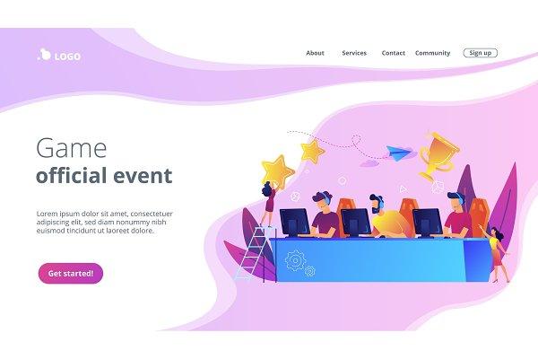 E-sport tournament concept landing
