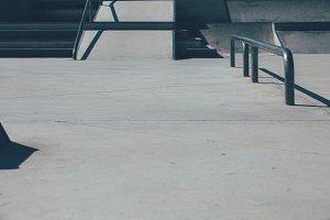 Urban skate park obstacles