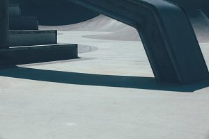 Urban skate park details