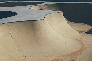 Urban skate park bowl