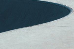 Urban skate park bowl detail