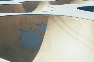 Skate park ramp in detail