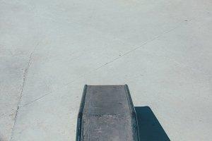 Skate park ramp from above