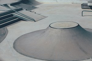 Skate park obstacles from above