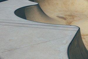 Skate park bowl in detail