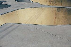 Skate park bowl detail