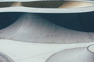 Ramps in the skate park