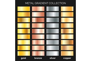 Metallic gradations set