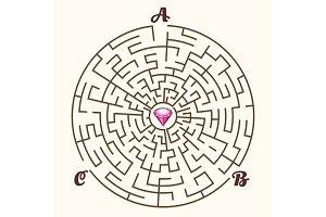 Maze labyrinth path game