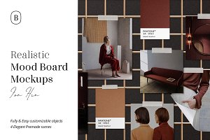 Realistic Mood Board Mockups vol.2
