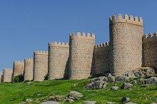 Avila stone wall. Ávila. Spain