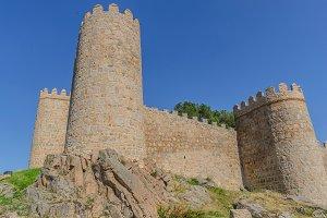 Avila wall. Ávila  Spain