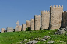 Avila. Spain. Towers of the walls