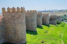Towers of Avila walls